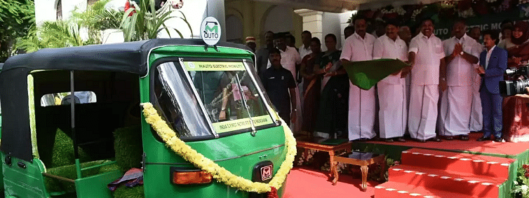 TN CM launches country's first retrofit electric autorickshaws in Chennai
