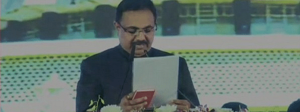 NCP's Jayant Patil, Chhagan Bhujbal take oath