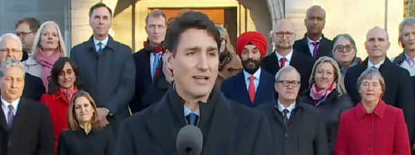 Canadian PM Trudeau unveils new, expanded cabinet