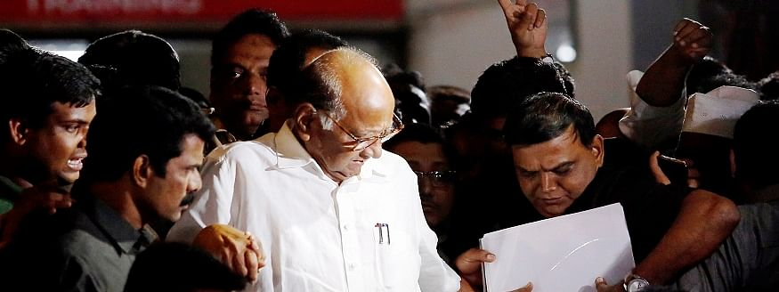 NCP says 50 MLAs still with Sharad Pawar