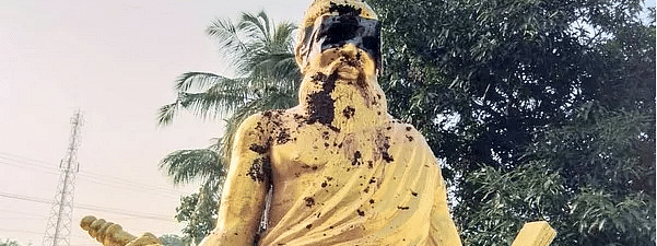 Thiruvalluvar's Statue desecrated With Cow Dung