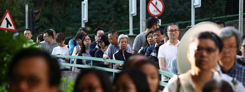 Record turnout in Hong Kong district council elections