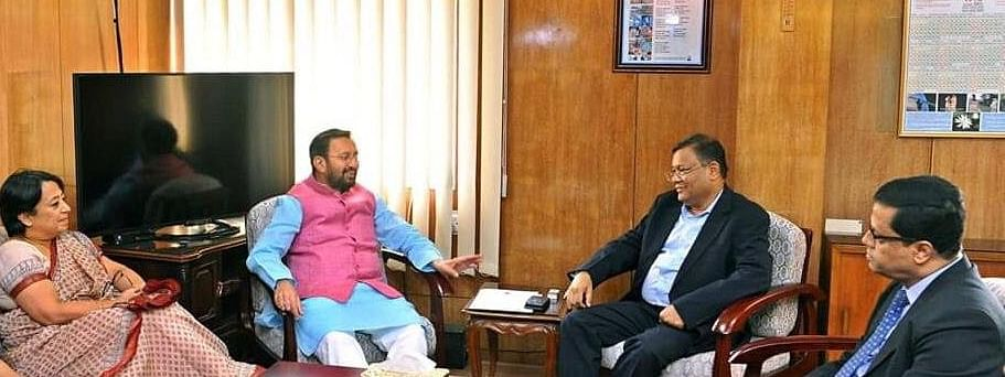 Javadekar meets Bangladesh minister, discusses ties, film production