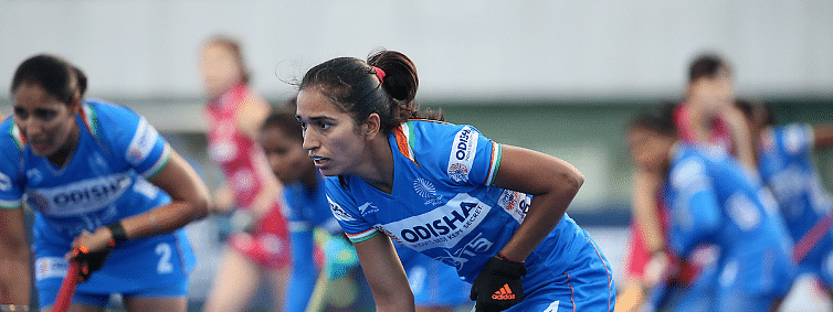 Monika completes 150 International Caps at FIH Olympic Qualifiers