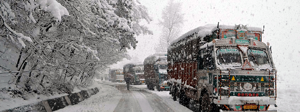 Highway connecting Ladakh with Kashmir closed for winter
