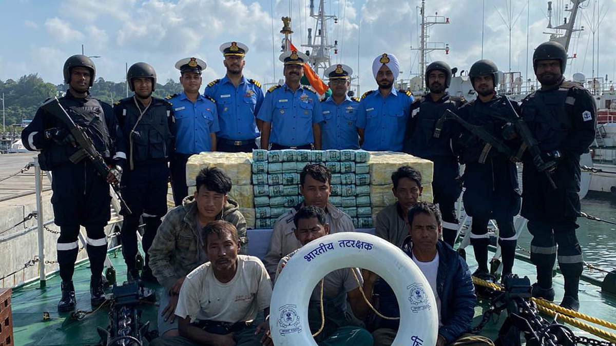 Coast Guard detains Myanmar boat with 303 kg banned drug Methaqualone