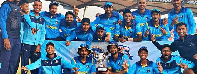 Brilliant Bengal become National U-23 One Day Champion