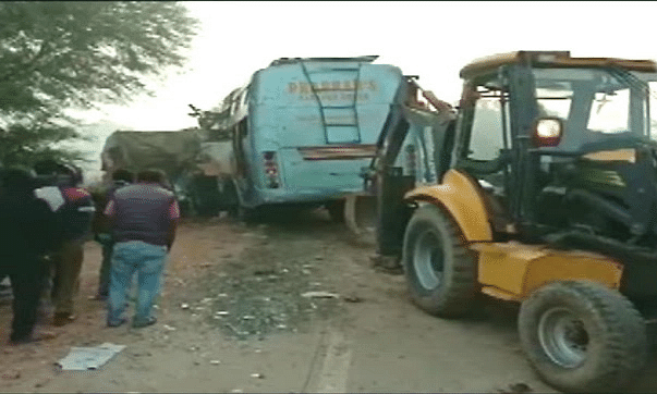 Nine killed as bus hits truck in MP's Rewa district