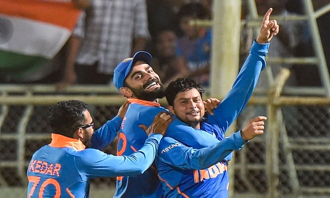 India beat West Indies by 107 runs, level series 1-1