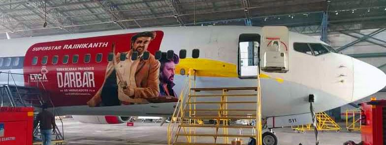 'Darbar' flight ready to take off; Thalaivar hits new record