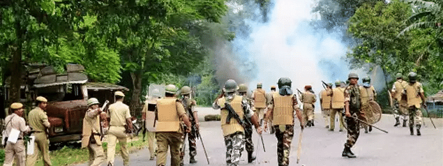Assam: Army stages flag march; CM house attacked, protest to intensify