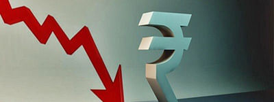 Rupee down 12 paise against USD