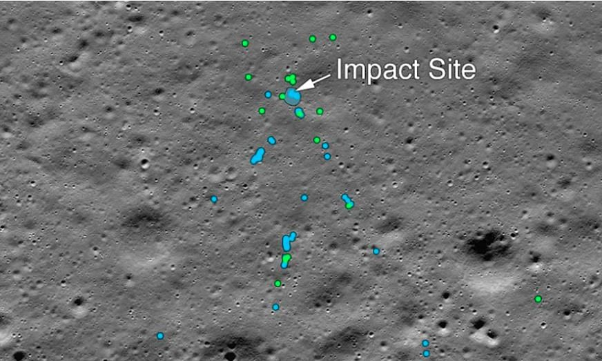 NASA finds Chandrayaan lander's debris