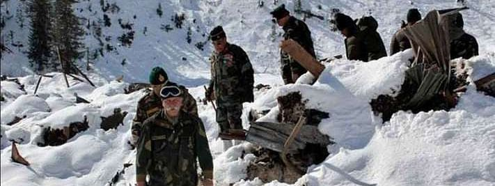 Three soldiers martyred in snow avalanche, one rescued at LoC