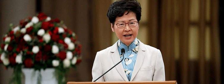 Hong Kong leader Lam hits out at US law, says will impact business confidence