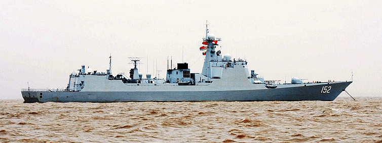 China launches powerful navy destroyers