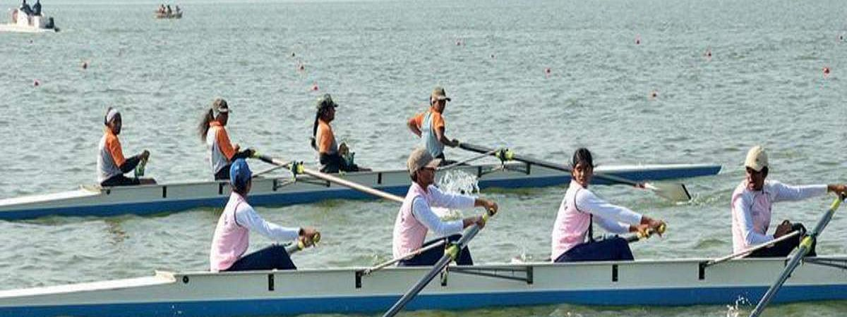 Rowing Triathlon organised to promote sports in Hyderabad