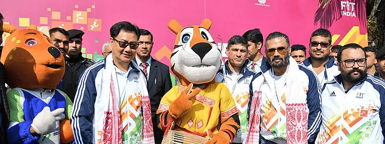 Rijiju, Suniel Shetty urge for drug-free sports