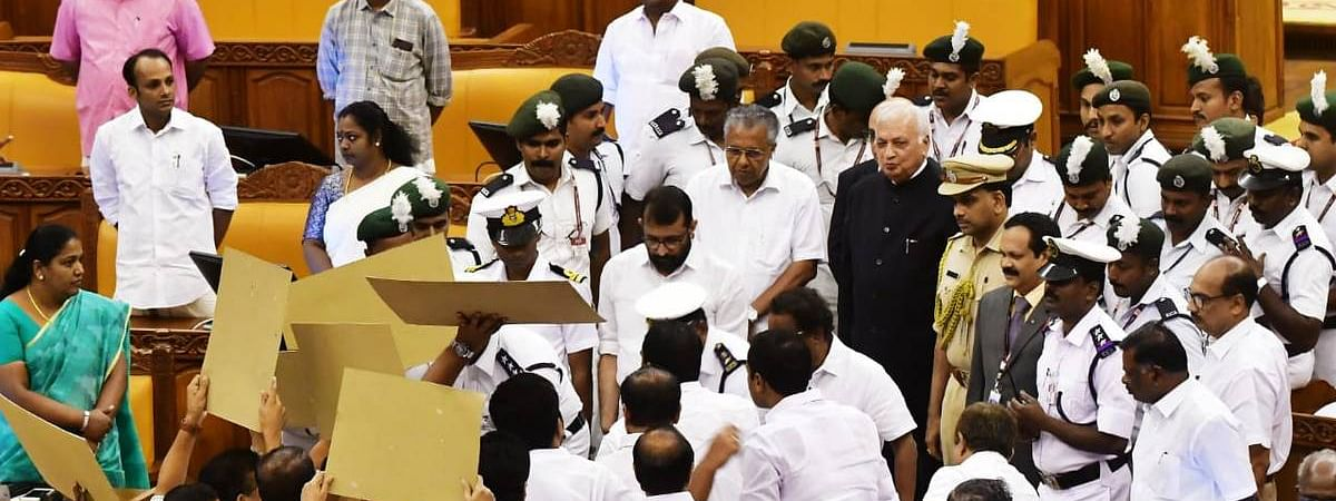 Kerala Assembly witnesses unruly scenes, Opposition blocks Governor