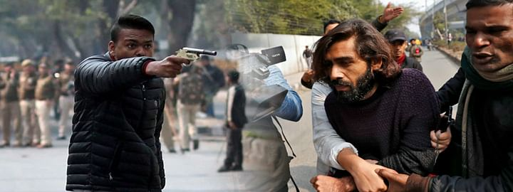 Gun-wielding man shoots at protesters of Jamia University; one student injured