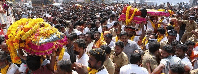 Sabarimala: Thiruvabharanom procession sets off its journey