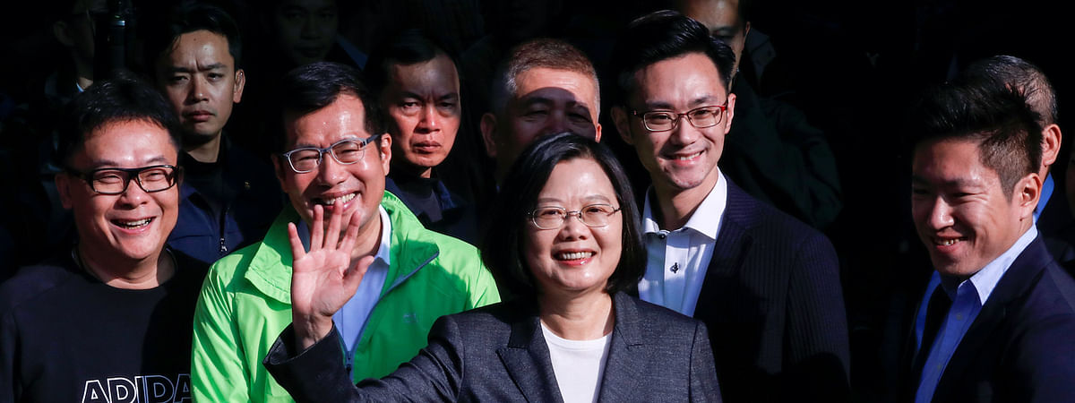 Tsai wins 2nd term, asks China to abandon threat