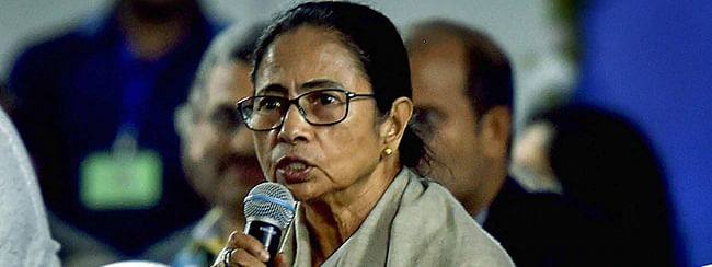 Mamata participates in a TMCP protest against CAA and NRC
