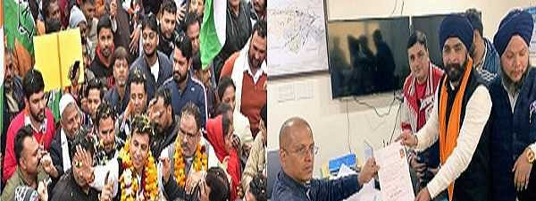 Many BJP, Cong leaders file papers on last day for Delhi poll