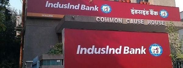 IndusInd Bank down 5.44 pc to Rs 1400.60