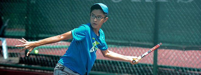 2 out of the 3 local wild cards in the qualifying draw of the Boys Singles Under 18 bite dust