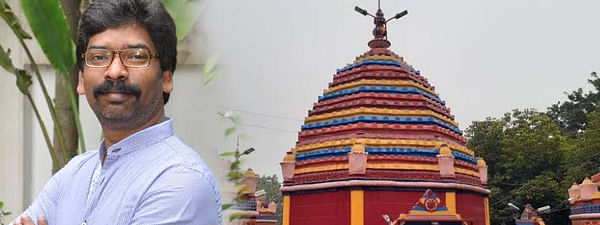 Chief Minister Hemant Soren offers prayers at Maa Chinmastika Temple