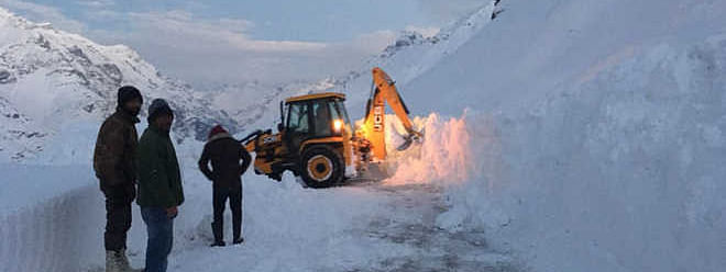 Snow clearing operation in full swing