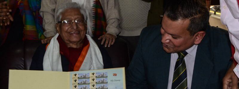 Postal Dept honours football stalwart Chuni Goswami with commemorative stamp
