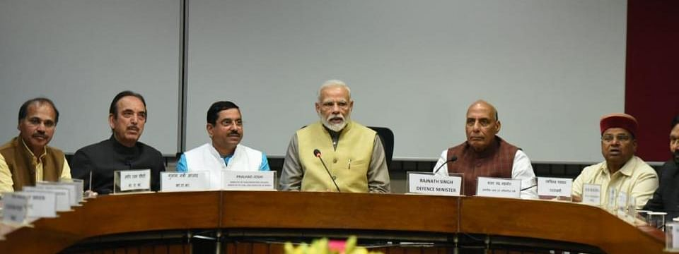 Govt ready to listen to Oppn views on all issues, PM says at all-party meet