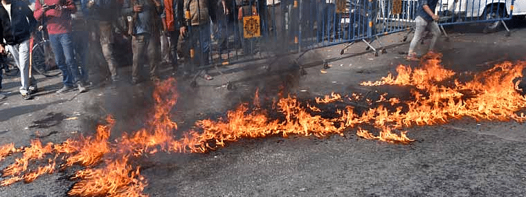Violence, arson across Bengal as strikers try to enforce Bharat bandh