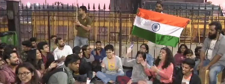 Mumbai protests to support JNU students