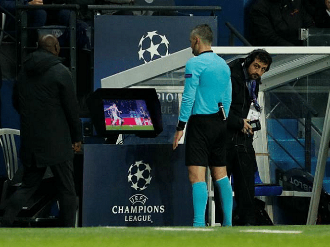 Watching video assisted football