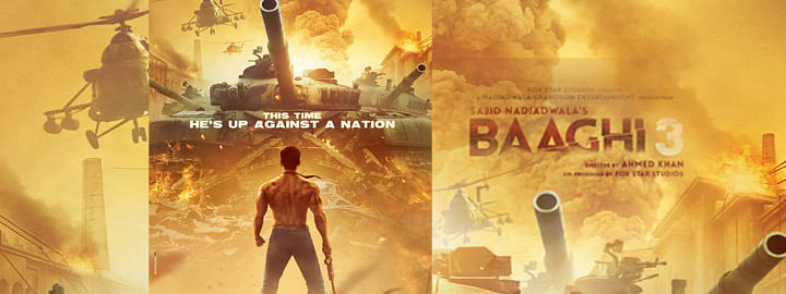 Makers first poster of Tiger Shroff starrer 'Baaghi 3'