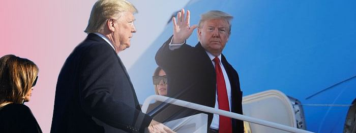 Trumps leave for Agra after 'Namaste Trump' event