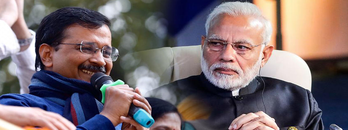 PM congratulates Kejriwal for thumping victory in Delhi polls