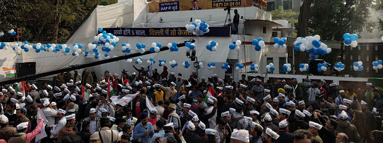 Assembly polls: AAP leads in 58 seats; Kejriwal from New Delhi