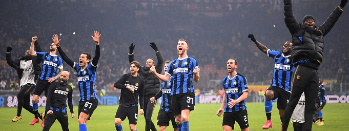 Inter beat Milan 4-2, show support to China in battle against novel coronavirus