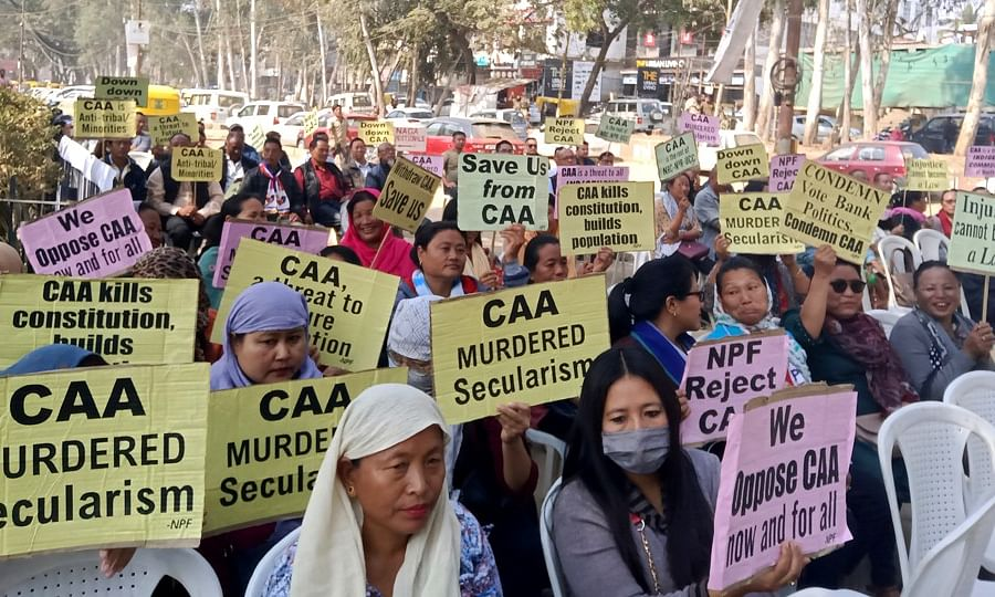 Nagaland NPF party held state-wide protest against CAA