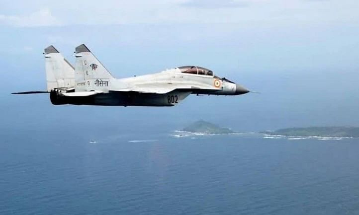 Mig 29k aircraft of Navy crashes off Goa, pilot ejects safely