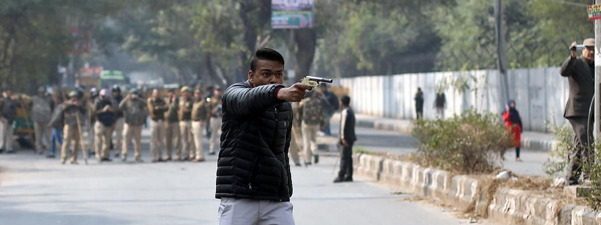 On Jamia Shooter's Facebook Page shows 'Shaheen Bagh game over' message