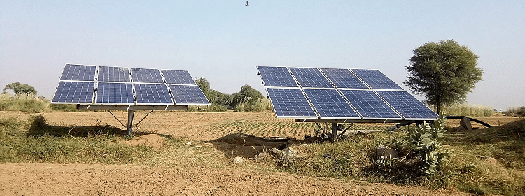 Solar units on barren lands for farmers