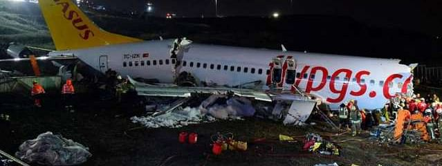 Three killed after plane slides off runway in Turkey's Istanbul
