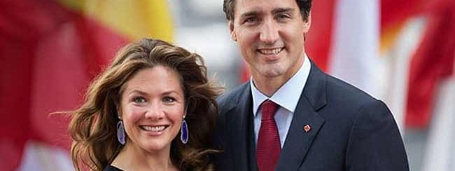 Canadian PM  Justin Trudeau and his wife Sophie Gregoire-Trudeau