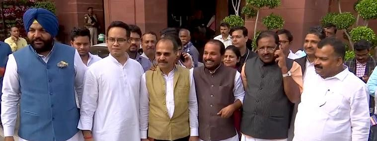 Seven Cong MPs suspended for remaining session over misconduct