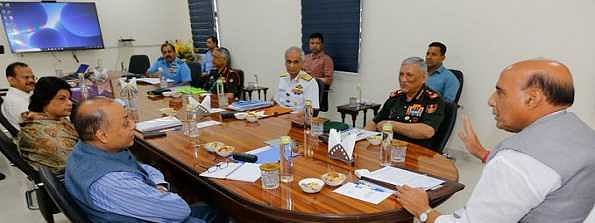 COVID-19: Rajnath Singh holds review meeting with CDS, Services chiefs